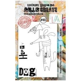 AALL & Create Clear Stamp A7 Happy Dog