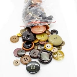 Jomil Assorted Button Bag 150g Brown
