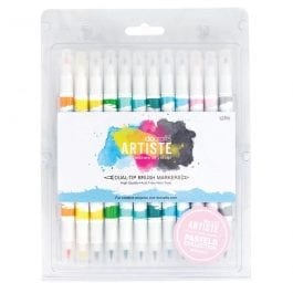 Docrafts Artiste Dual Tip Brush Markers Pastel Colours Pk 12