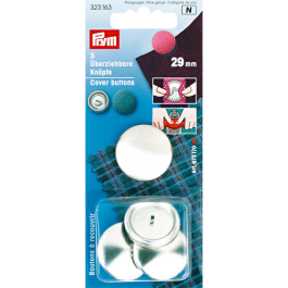 Prym Cover Buttons 29mm Metal Pk 3