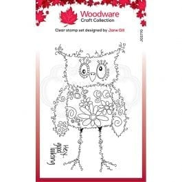 Woodware Clear Stamp 6″ x 4″ Fuzzy Friends Horace