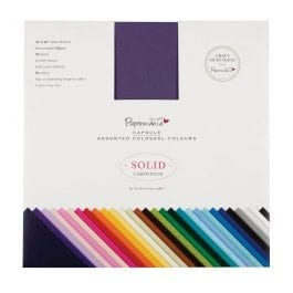 Papermania 12″ x 12″ Solid Premium Cardstock Colossal Pk 75