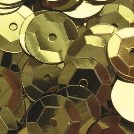 Jomil Cupped Sequins 8mm Gold Pk 300