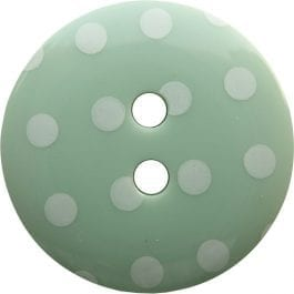 Jomil 2 Hole Button with Polka Dots 13mm Mint