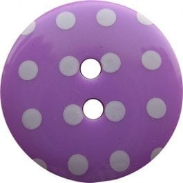 Jomil 2 Hole Button with Polka Dots 13mm Purple