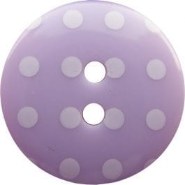 Jomil 2 Hole Button with Polka Dots 18mm Lilac