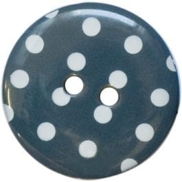 Jomil 2 Hole Button with Polka Dots 18mm Grey
