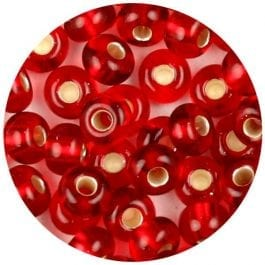 Jomil Glass Knitters Beads 4.1mm Red 8g