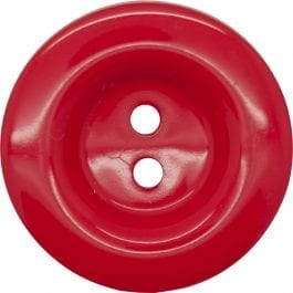 Jomil 2 Hole High Shine Button 11mm Red