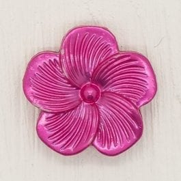 Jomil Pearlised Flower Shank Button 18mm Hot Pink