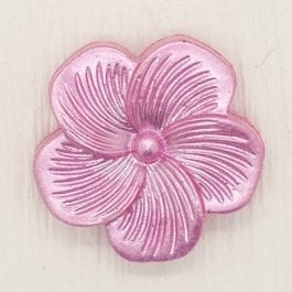 Jomil Pearlised Flower Shank Button 18mm Pink