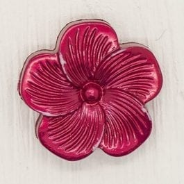 Jomil Pearlised Flower Shank Button 18mm Red