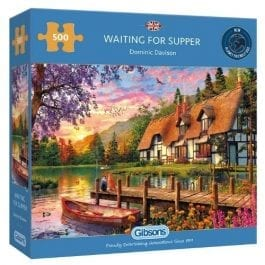Gibsons Jigsaw Waiting For Supper 500 Piece Puzzle