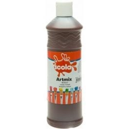 Artmix Ready Mixed Poster Paint Burnt Umber 600ml
