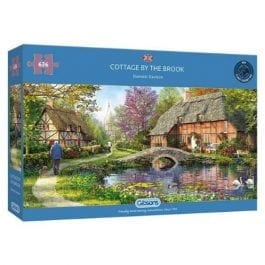 Gibsons Jigsaw Cottage By The Brook 636 Piece Puzzle