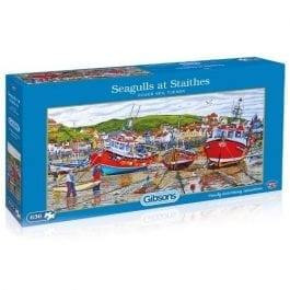Gibsons Jigsaw Seagulls At Staithes 636 Piece Puzzle