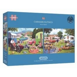 Gibsons Jigsaw Caravan Outings 2 x 500 Piece Puzzle