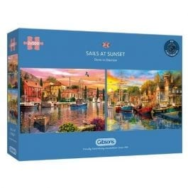 Gibsons Jigsaw Sails At Sunset 2 x 500 Piece Puzzle