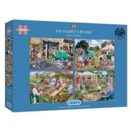 Gibsons Jigsaw The Florist's Round 4 x 500 Piece Puzzle