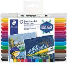 Staedtler Double-Ended Fabric Pens Pk 12