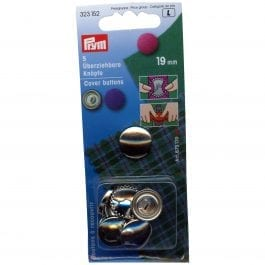 Prym Cover Buttons 19mm Metal Pk 5