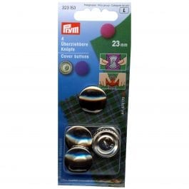 Prym Cover Buttons 23mm Metal Pk 4
