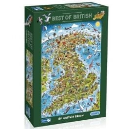Gibsons Jigsaw Best Of British 1000 Piece Puzzle