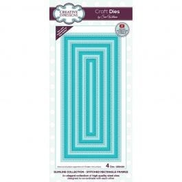 Creative Expressions Sue Wilson Dies Slimline Collection Stitched Rectangle Frames