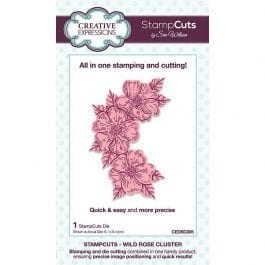 Creative Expressions Sue Wilson Dies StampCuts Wild Rose Cluster