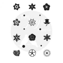 Two Jays Stamp Co. Finger Stamps Small Flowers