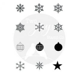 Two Jays Stamp Co. Finger Stamps Festive Flakes