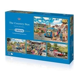 Gibsons Jigsaw The Country Bus 4 x 500 Piece Puzzle