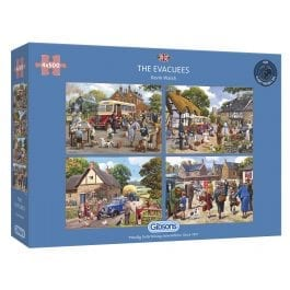Gibsons Jigsaw The Evacuees 4 x 500 Piece Puzzle