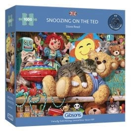 Gibsons Jigsaw Snoozing on the Ted 1000 Piece Puzzle