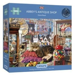 Gibsons Jigsaw Abbey's Antique Shop 1000 Piece Puzzle