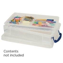 Really Useful Box 4 Litre Clear Box & Accessory Trays