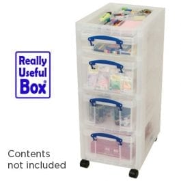 Really Useful Tower with 3 x 9 Litre & 1 x 4 Litre Drawers & Accessory Tray