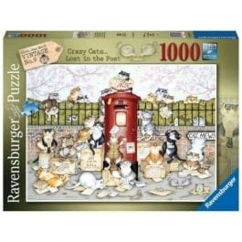 Ravensburger Crazy Cats at the Postbox 1000 Piece Puzzle