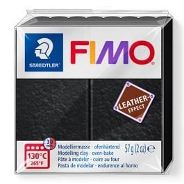 Fimo Leather-Effect 57g Black