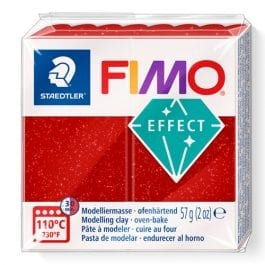 Fimo Effect 57g Glitter Red