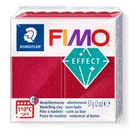 Fimo Effect 57g Metallic Ruby Red