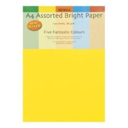 Southfield A4 Bright Paper Assorted Colours 80gsm Pk 100