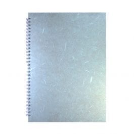 Pink Pig A3 Posh Silk Sketch Book Portrait Pastel Blue Cover – White Pages