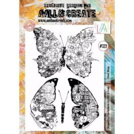 AALL & Create Clear Stamp A4 Floral Wings