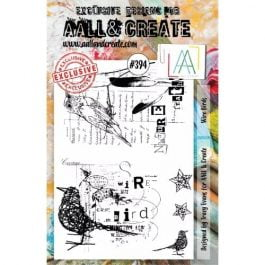 AALL & Create Clear Stamp A5 Wire Birds