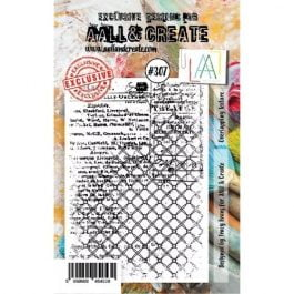 AALL & Create Clear Stamp A7 Overlapping Texture