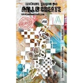 AALL & Create Clear Stencil A6 Digits Checked