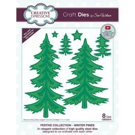 Creative Expressions Sue Wilson Dies Festive Collection – Winter Pines
