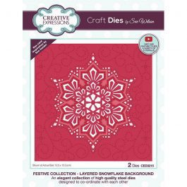 Creative Expressions Sue Wilson Dies Festive Collection – Layered Snowflake Background
