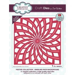 Creative Expressions Sue Wilson Dies Festive Collection – Swirling Rays Background